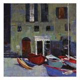 Carmine Boats Giclee Print by Patti Mollica