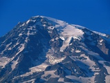 Snow Covered peak of Mount Rainier in the Cascade Mountain Range Photographic Print by Paul Souders