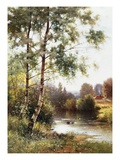 Landscape near Sonning on Thames, England Giclee Print by Ernest Parton