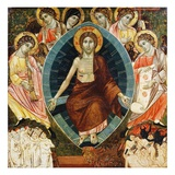 Italo-Byzantine Painting of The Last Judgment Giclée-Druck