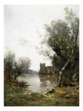By the River Gicléetryck av Maurice Levis
