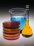 Containers of Chemicals Photographic Print by Richard Nowitz