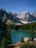 Moraine Lake and Surrounding Mountains Photographic Print by Buddy Mays