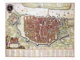 Antverpia, Map of Antwerp Premium Giclee Print by Jan Blaeu