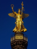 Detail of the Victory Column Statue by Friedrich Darke Photographic Print by Jonathan Hicks
