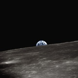 Earth Rising Above the Moon Photographie