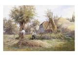 Woodcutting Premium Giclee Print by Wilmot Pilsbury