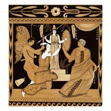 19th Century Greek Vase Illustration of Cassandra with Apollo and Minerva Giclee Print by  Stapleton Collection
