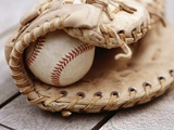 Baseball and Glove Photographic Print