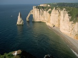 The Manneport Arch and Aiguille of Etretat Cliffs, France Photographic Print by Franz-Marc Frei
