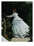 Detail of a Lady from Women in a Garden Giclee Print by Claude Monet