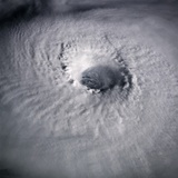 Eye of Typhoon Odessa from Space Photographic Print