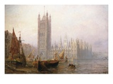The Houses of Parliament, London Giclee Print by Claude T. Stanfield Moore