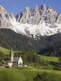 St. Maddalena Church in Val di Funes Photographic Print by Richard Klune