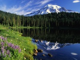 Reflection Lake and Mount Rainier Photographic Print by William Manning