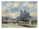 Notre Dame, Paris Premium Giclee Print by Albert Lebourg