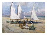 Land Yachts Giclee Print by Paul Bayart