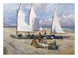 Land Yachts Giclee Print by Paul Bayart