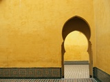 Doorway at Mausoleum of Moulay Ismail Photographic Print by Paul Souders