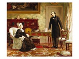 Queen Victoria Interviewing Disraeli at Osborne House Giclee Print by Theodore Blake Wirgman