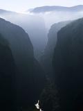 Verdon Canyon Through the Mist Photographic Print by Christophe Boisvieux