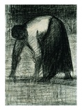 Peasant with Hands to the Ground Giclee Print by Georges Seurat