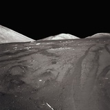 Tire Tracks on the Surface of the Moon Photographic Print