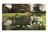 The Garden, Sutton Place, Surrey, England Giclee Print by Ernest Spence