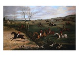 The Oakley Hunt Reproduction procédé giclée par Henry Thomas Alken