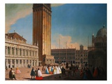 The Piazzetta, Venice Looking Northwest Giclee Print by Luca Carlevariis