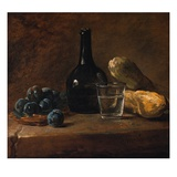 Still Life with Plums Giclee Print by Jean-Simeon Chardin