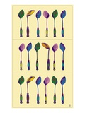 Spoons by Steve Collier Giclee Print by Steve Collier