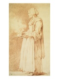 A Servant Woman Holding a Steaming Pot Giclee Print by Edme Bouchardon