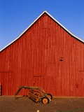 Planter in Front of Red Barn Photographic Print by Stuart Westmorland