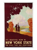 New York State Travel Giclee Print by K.J. Historical