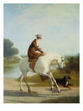 Miss Cazenove on a Gray Hunter Premium Giclee Print by Jacques Laurent Agasse