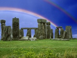 Double Rainbow over Stonehenge Photographic Print by M. Dillon
