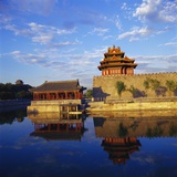 Corner Tower of Forbidden City Photographic Print by Liu Liqun