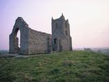 St. Michael's Church Ruins on Burrow Mump Photographic Print by Nik Wheeler