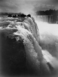 Man on Boardwalk at Horseshoe Falls Photographic Print