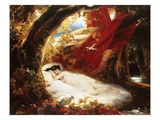 A Sleeping Beauty Giclee Print by Richard Westall