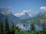 Lake Below Glaciated Peaks Photographic Print by Neil Rabinowitz