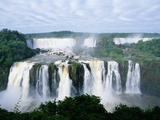 Iguazu Waterfalls in South America Lámina fotográfica por Joseph Sohm