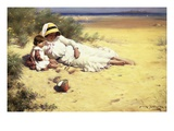 Playing with Mother Giclee Print by William Kay Blacklock
