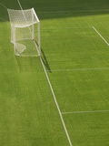 Goal and Net on Empty Soccer Field Photographic Print by David Madison