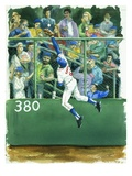 A Baseball Player Trying to Catch a Ball from Frank and Ernest Play Ball Giclee Print by Alexandra Day