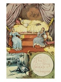 Book Illustration Depicting Sleeping Beauty and Her Attendants Asleep Reproduction procédé giclée