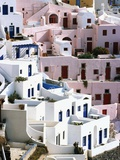Hillside Buildings on Santorini Photographic Print by Bob Jacobson