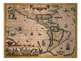 Map of America Giclee Print by Gerardus Mercator