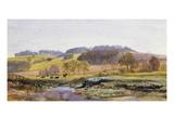 Springtime near Marden, Surrey, England Premium Giclee Print by John Brett